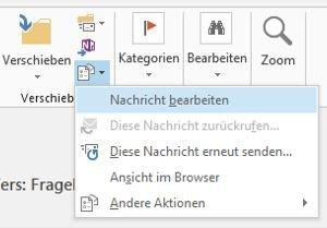 Email bearbeiten - Nachricht