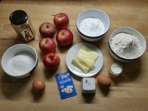 Apfelkuchen 01 Zutaten
