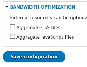 Drupal Bandwith Optimization